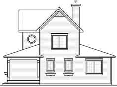 Home Plan: 728-3511 - Rear Elevation Farmhouse Plans, Modern Farmhouse, Farmhouse Style, Drummond House Plans, Open Living Area, Bedroom Fireplace, Lakefront Homes, Country Style House Plans, Up House