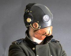 Steampunk Mask - Leather Mask - Halloween Mask - LARP - cosplay - cyberpunk - dieselpunk