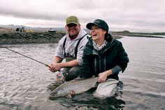 """Geoff Pieroway of Pieroway Rod Company Canada and Lizzie Bell """"She is fishing"""" with Einarsson Fly Fishing in Lake Thingvellir Iceland. Fishing Reels, Fly Fishing, Iceland, Photo Galleries, Canada, Gallery, Baby Elephants, Ice Land, Roof Rack"""