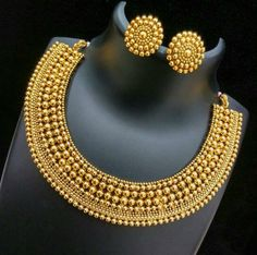 22K Gold Long Necklace & Chand Bali Earrings Set - 235-GS2935 - Buy this Latest Indian Gold Jewelry Design in 44.850 Grams for a low price of $2,333.14