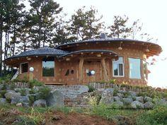 Korean soil houses cobwood with logo