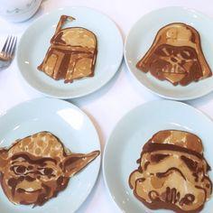 Pfannkuchenkunst im Star Wars Style