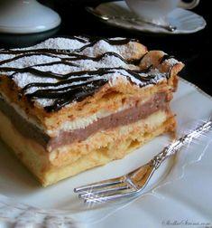 Karpatka Królewska - Przepis - Słodka Strona Polish Recipes, Polish Food, Piece Of Cakes, Coffee Cake, Tiramisu, Deserts, Good Food, Food And Drink, Cooking Recipes