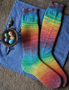 Easter Rainbow Socks by JanKnit