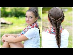 The Laced Fishtail Braid | Cute Girls Hairstyles  Somebody needs to do this on me!<3