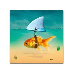 Artist Canvas, Canvas Art, Canvas Prints, Art Prints, Gold Fish Painting, Fish Paintings, Fine Art Amerika, Goldfish Tattoo, Dibujo