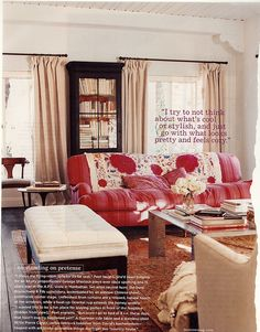 Amanda Peet's living room...from the late, lamented Domino.  Gorge.