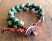 Organic Fairtrade Acai Bead and Braided Leather Bracelet with Real Coconut Button Pearly White