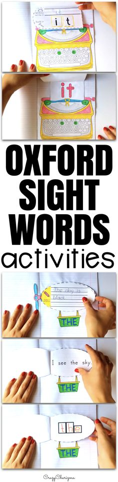 Huge OXFORD SIGHT WORDS practice! Use these activitieis with your kids as engaging reading strategies and introduce, practice and review Oxford words first hundred and second hundred (1-200).