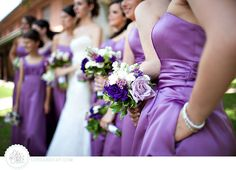 Bridesmaids dresses with pockets! My favorite.