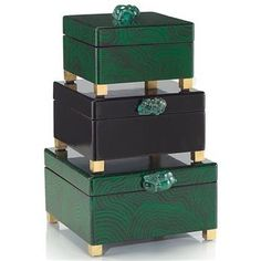 Luxury Designer Malachite & Gold Dressing Table Boxes, at InStyle Decor Beverly Hills Hollywood Luxury Home Decor Dressing Table Boxes, Luxury Wedding Gifts, Luxury Christmas Gifts, Christmas Jewelry, Luxury Gifts For Women, Green Home Decor, Luxury Lighting, Luxury Home Decor, Luxury Homes