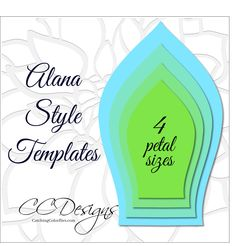 Alana Style Giant Flower Templates - Catching Colorlfies