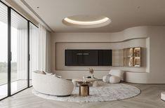 Residential Interior Design, Bathroom Interior Design, Interior Architecture, Living Room Designs, Living Spaces, Modern Tv Cabinet, Interior Concept, Luxury Living, Furniture Design