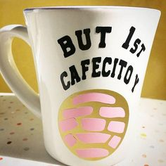 BUT 1st CAFECITO and CONCHITA Vinyl Decals Coffee Cup Decal