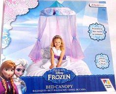 DISNEY FROZEN BED CANOPY BALDACHIN GIRLS BEDROOM KIDS TO CLEAR !!