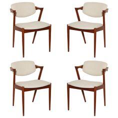 Set of 4 Teak Kai Kristiansen Dining Chairs