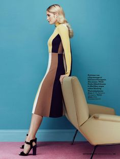 """""""The New Mood of Color"""" Heidi Mount for Red UK September 2015"""