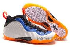 """Discover the Nike Air Foamposite One """"Knicks Home"""" White/Bright Orange-Royal Blue Top Deals group at Pumarihanna. Shop Nike Air Foamposite One """"Knicks Home"""" White/Bright Orange-Royal Blue Top Deals black, grey, blue and more. Nike Shoes Online, New Nike Shoes, New Jordans Shoes, Air Jordans, Shoes Uk, Custom Jordans, Shoes 2017, New Sneakers, Black And White"""