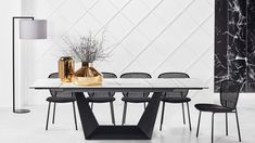 Buy Albon Extension Dining Table | Domayne AU Aqua Quilt, Contemporary Recliners, Pure White Background, Extension Dining Table, Smart Home Automation, Kitchen Benches, Furniture Care, Jar Storage, Glass Jars