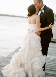 North Carolina Wedding from Abby Jiu + Salt Harbor Designs Wedding Kiss, Plan My Wedding, Wedding Bells, Wedding Bride, Wedding Gowns, Dream Wedding, Wedding Ideas, Dock Wedding, Wedding Stuff