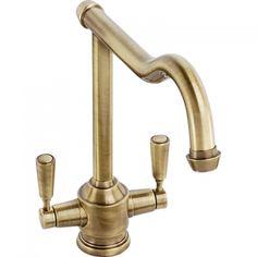 Abode Gresham Monobloc Kitchen Sink Mixer Tap Antique Bronze