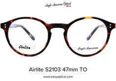 Airlite S2103 47mm TO Glasses, American, Eyewear, Eyeglasses, Eye Glasses