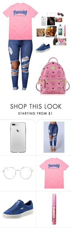 Untitled #29 by izyyyy ❤ liked on Polyvore featuring Topshop, Puma and MCM
