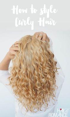 Wie man lockiges Haar wäscht und stylt  #lockiges #stylt #wascht