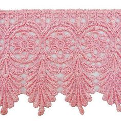 "#Venice lace trim pink lace 3"" #inches wide crafting #embellishment by the yard…"