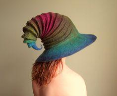 Wide Brim Halloween Wizard Hat. Witch Hat. Felt by HandiCraftKate, $130.00 >> what a great hat!