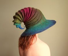 Wide Brim Wizard Hat. Witch Hat. Felt Hat. Ren by HandiCraftKate, $135.00
