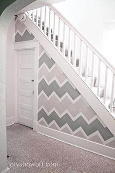DIY Chevron      : DIY Chevron Wall  : DIY home decor