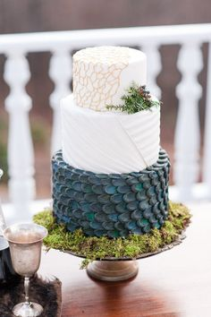 """The wedding cake included a tier of """"dragon scales"""" ― a nod to the Queen of Dragons herself."""