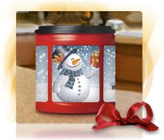Folgers Can Decorator - They have several different templates you can print out to fit the can.