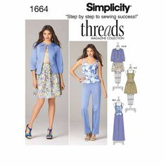 Simplicity Sewing Pattern Misses Casual 4-13