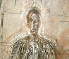 giacometti portretten   Alberto Giacometti – Seated Man – Olieverf op canvas (detail)