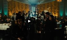 Screenshot taken from 'Gangster Squad' (2013), from the night club - love the draped fabrics that draw the attention to the stage. Use ground spotlights to create pillars along the walls to compliment this look