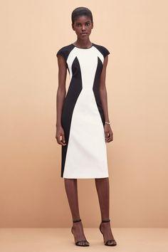 Kimora Lee Simmons | Spring 2016 Ready-to-Wear | 02 Monochrome sleeveless midi dress