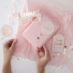 Our Team Bride Pass The Parcel Game Kit is a fun new addition to our classy Team Bride hen party range. The kit comes complete with confetti, wrapping paper, 'Winner' Glasses and forfeit cards - all in our pink and rose gold design. Use our kit to wrap a cute present, and fill in the forfeits for a quick fun game.