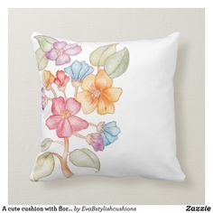 Shop A cute cushion with floral style created by EvaBstylishcushions. Personalise it with photos & text or purchase as is! Cute Cushions, Floral Style, Birthday Gifts, Paintings, Throw Pillows, Creative, Birthday Presents, Toss Pillows, Paint