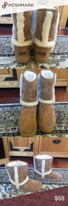 Brown Ugg boots Lightly used Uggs but still in great condition. Tiny scuff mark on the front of the left boot. Will accept reasonable offers :) UGG Shoes