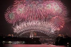 Sydney, Australia; New Years Fireworks