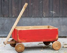 Vintage styled RED CART - Newborn and older children cart prop, baby cart prop, wooden cart prop, vintage cart photo prop, photography props Vintage Photo Booths, Vintage Props, Vintage Wood, Vintage Circus, Vintage Style, Newborn Photography Props, Newborn Photo Props, Newborn Photos, Wooden Cart