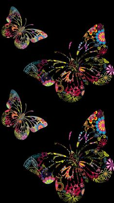 Reminds me of scratch art, crayon etching Flower Phone Wallpaper, Butterfly Wallpaper, Butterfly Art, Cellphone Wallpaper, Colorful Wallpaper, Galaxy Wallpaper, Wallpaper Backgrounds, Iphone Wallpaper, Butterfly Kisses