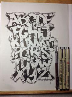 Graffiti Alphabet Letters Graffiti Alphabet Letter A Z Wallpaper Hd Graffiti Alphabet Styles, Graffiti Lettering Alphabet, Graffiti Writing, Tattoo Lettering Fonts, Alphabet Letters, Creative Lettering, Lettering Design, Name Drawings, Graffiti Doodles