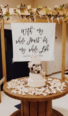 Indoor Wedding Ceremony Backdrop Rustic Wedding Background Still searching for the perfect reception decor for your wedding day? It's such an easy way to add a personal touch to y. Wedding Ceremony Ideas, Indoor Wedding Ceremonies, Wedding Reception Decorations, Wedding Table, Wedding Favors, Diy Wedding, Rustic Wedding, Dream Wedding, Backdrop Wedding