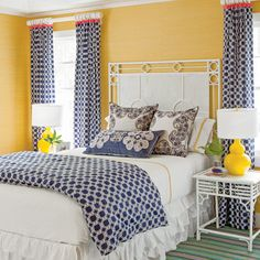 Colorful Guest Room - 40 Guest Bedroom Ideas - Coastal Living