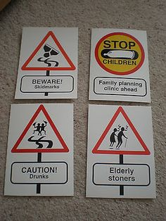 10 #modern rude comic #funny saucy seaside postcards - road signs - mint #origina,  View more on the LINK: http://www.zeppy.io/product/gb/2/302013389657/