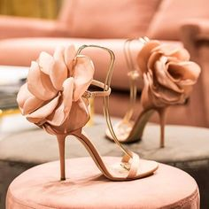 hochzeitsschuhe pumps 2019 Sandalias Mujer SS New Oversize Flower Back Ankle Strap Sandals Stiletto High Heels Pink Black Satin Party Shoes Woman Wedge Shoes, Shoes Heels, Pumps, Heeled Sandals, Strap Sandals, Dress Shoes, Nike Heels, High Sandals, Dior Shoes