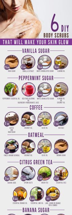 There are plenty of simple DIY body scrubs recipes that you can easily make at home with a few ingredients.